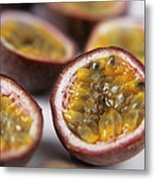 Passion Fruit Halves Metal Print by Veronique Leplat