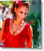 Passionate Gypsy Blood. Flamenco Dance Metal Print