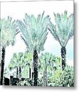 Pastel Palms Metal Print