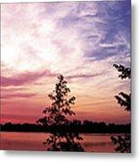 Pastel Pink Sunset Metal Print