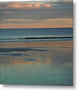 Pastel Reflections On The Coast Metal Print