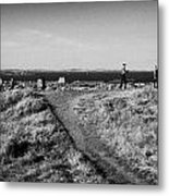 Path Around Calton Hill Looking Towards The Firth Of Forth And Triangulation Point Edinburgh Scotlan Metal Print