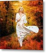 Path Of Fall Metal Print by Mary Hood