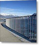 Path On An Alpine Lakefront Metal Print