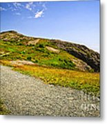 Path To Cabot Tower On Signal Hill Metal Print by Elena Elisseeva