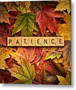 Patience-autumn Metal Print