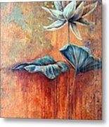 Patina Lotus Metal Print