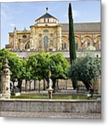 Patio De Los Naranjos At Mezquita In Cordoba Metal Print