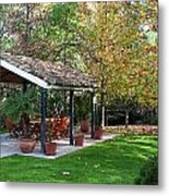 Patio Dining Madrid Metal Print