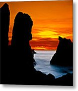 Patrick's Point Silhouette Metal Print