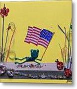 Patriot Frog Metal Print