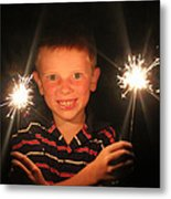 Patriotic Boy Metal Print by Kelly Hazel