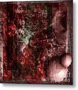 Pattern Down - Red Metal Print by Monroe Snook