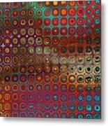 Pattern Study I Reflections Metal Print