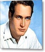 Paul Newman, Portrait Ca. 1950s Metal Print by Everett