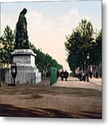 Paul Riquet Statue And The Allees In Beziers - France Metal Print