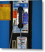Pay Phone . 7d15934 Metal Print by Wingsdomain Art and Photography