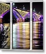 Peace Bridge 02 Triptych Series Metal Print