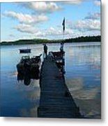 Peace On The Lake Dock Metal Print