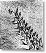 Peace Pipe Ceremony, 1718 Metal Print