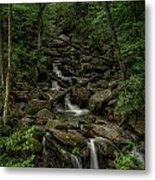 Peaceful Cascade Metal Print