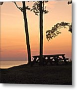 Peaceful Evening Picnic 7109 Metal Print