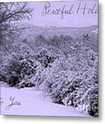 Peaceful Holidays To You Metal Print