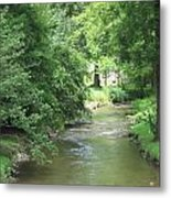 Peaceful Mountain Stream Metal Print