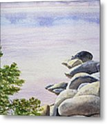 Peaceful Place Morning At The Lake Metal Print