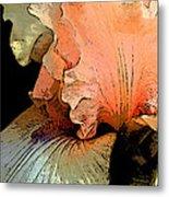 Peach Iris Digital Art Metal Print