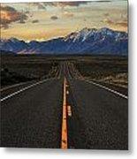 Peaks To Craters Highway Metal Print