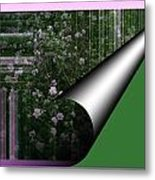Pealing Wallpaper Metal Print