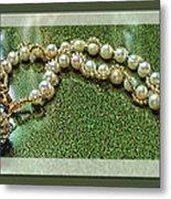 Pearl Bracelet Metal Print