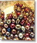 Pearls In A Pile  Art Metal Print