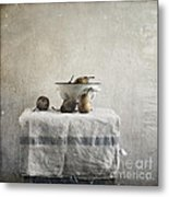Pears Under Grunge Metal Print by Paul Grand