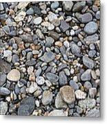 Pebble Beach Rocks, Maine Metal Print