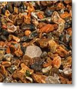 Pebbles And Stones On The Beach Metal Print
