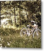 Pedaling To The Past Metal Print