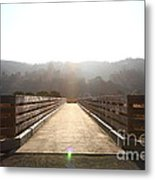 Pedestrian Bridge At Martinez Regional Shoreline Park In Martinez California . 7d10534 Metal Print