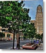 Pedestrian View Of City Hall Horizontal  Metal Print