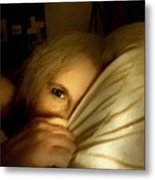Peekaboo By Candlelight Metal Print