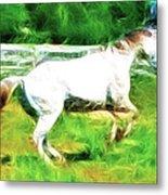 Pegasus Impression Metal Print