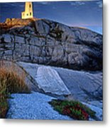 Peggys Cove Lighthouse Nova Scotia Metal Print