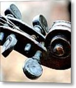 Pegs And Scroll Metal Print