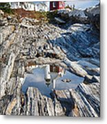 Pemaquid Point Reflections Metal Print by George Oze