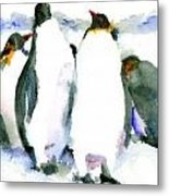Penguin Lovers Metal Print