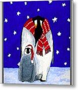 Penguin's First Christmas Metal Print