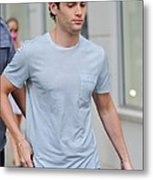 Penn Badgley, Walks To The Gossip Girl Metal Print