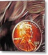 Pennies Abstract 2 Metal Print
