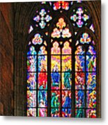 Pentecost Window - St. Vitus Cathedral Prague Metal Print by Christine Till